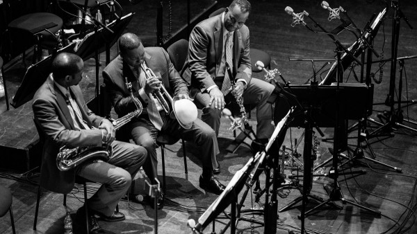 Wynton Marsalis with members of JLCO