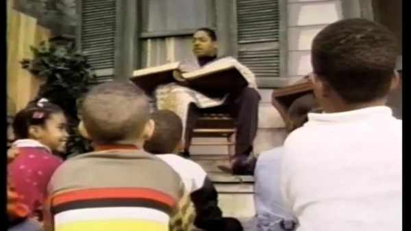 "BET Story Porch 1994: Wynton Marsalis reading ""Tojo and Woody Learn to Swing"""