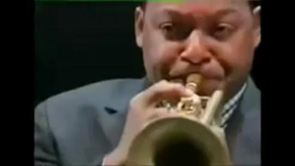 Portrait of Louis Armstrong - JLCO with Wynton Marsalis at BBC Proms 2002