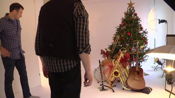 Wynton Marsalis' Christmas Jazz Jam Photo Shoot - Behind the Scenes