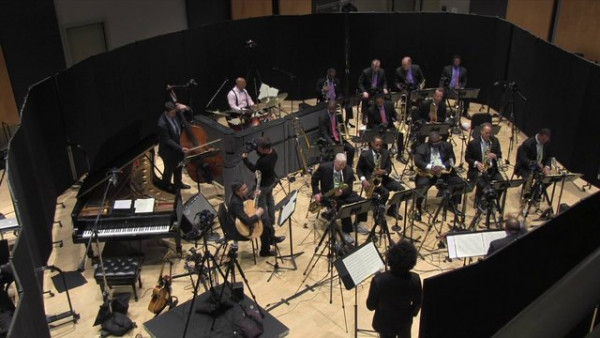 "Jazz at Lincoln Center Orchestra with Wynton Marsalis recording ""I Like the Sunrise"""