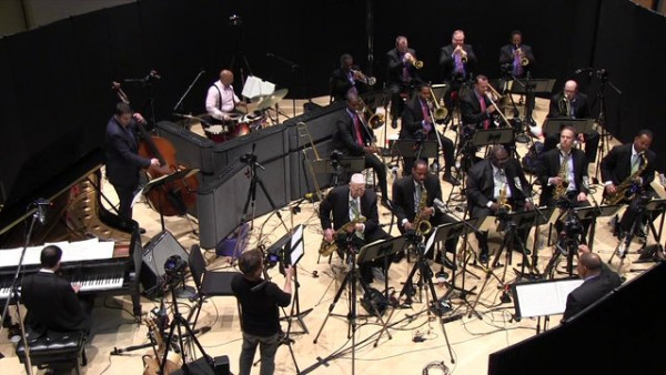 "Jazz at Lincoln Center Orchestra with Wynton Marsalis recording ""Chinoiserie"""