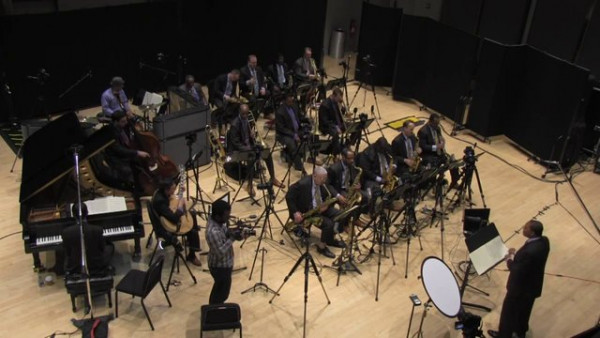 "Jazz at Lincoln Center Orchestra with Wynton Marsalis recording ""Royal Garden Blues"""