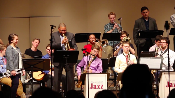 Working with Wynton Marsalis at Shenandoah University