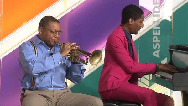 Wynton Marsalis and Jon Batiste discuss the Genius of Jazz - Aspen Ideas Festival 2015