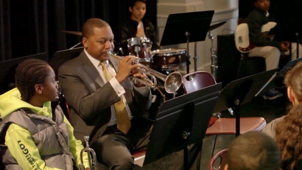 "Wynton Marsalis at JazzED video ""Reach down and come on with it!"""