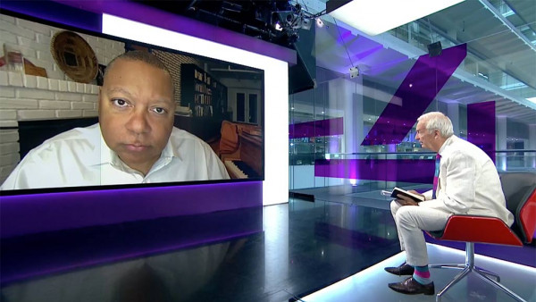 Wynton Marsalis talking about his new album and politics on Channel 4