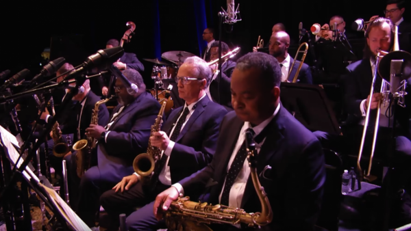 "The JLCO with Wynton Marsalis at ""LIVE from HERE"" with Chris Thile"