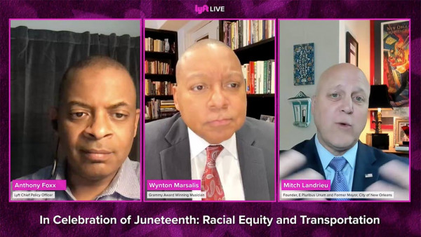 Wynton Marsalis joins Lyft for a conversation about Juneteenth, race, music, and mobility