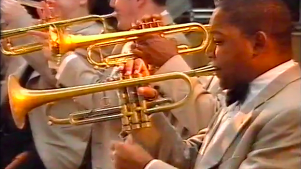 JLCO with Wynton Marsalis in Warsaw, Poland (1998)