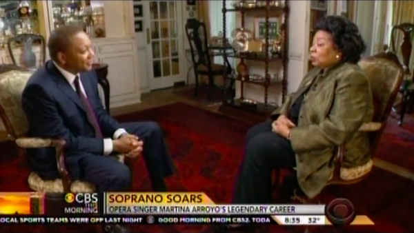 Wynton Marsalis interviews Martina Arroyo on CBS This Morning
