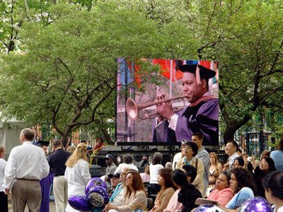 Wynton receiving an honorary doctorate at NYU Commencement 2007