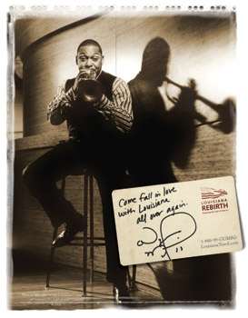 Wynton in the new campain: Fall in Love with Louisiana All Over Again