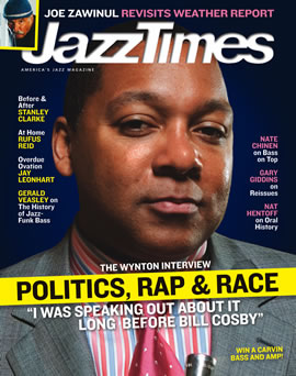 Wynton Marsalis on the cover page of April 2007 issue of JazzTimes
