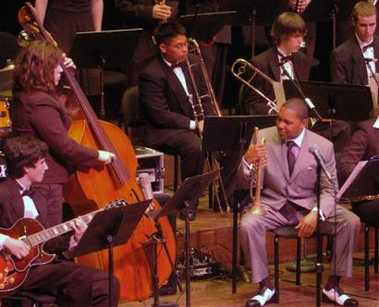 Wynton Marsalis sits down with and listens to Third Place winner Mountlake Terrace High School Jazz Band of Mountlake Terrace, WA.