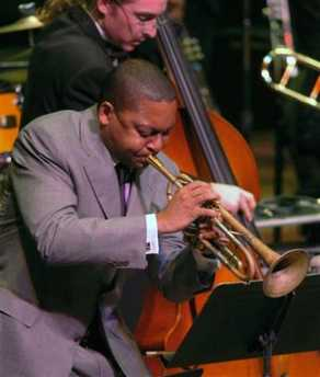 Wynton Marsalis joins First Place winner, New World School of the Arts Jazz Band of Miami, FL.