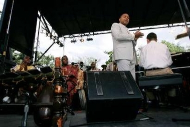 Wynton Marsalis at the world premiere of Congo Square