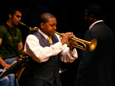 Wynton Marsalis giving master class in East Lansing