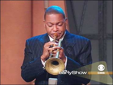 Wynton Marsalis playing on CBS/The Early Show