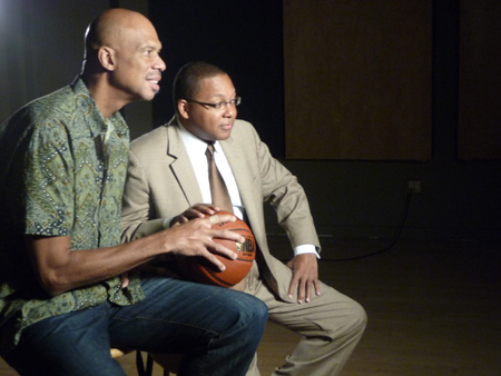 Wynton and Kareem Abdul-Jabbar talk and play basketball