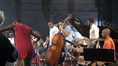 Wynton at soundcheck for the concert in Marciac on August 3, 2007