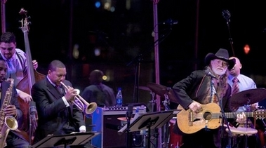 Wynton Marsalis and Willie Nelson playing at JALC
