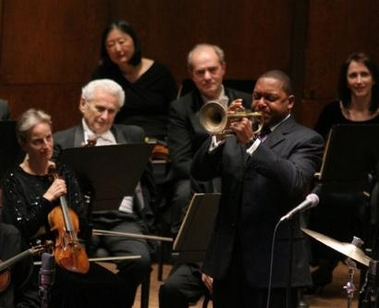 Wynton playing at Avery Fisher Hall