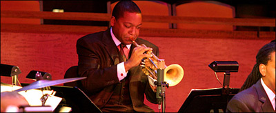 Wynton Marsalis playing at JALC Grand Opening Concert
