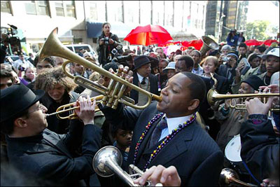 Wynton leads the Second line parade