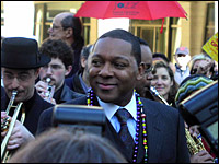Wynton Marsalis at the parade