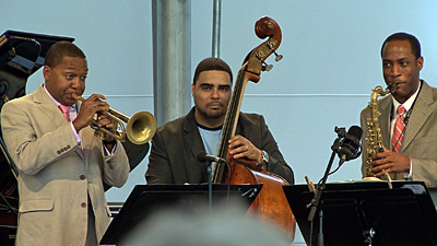 Wynton and his Quintet playing at Paris Jazz Festival 2007