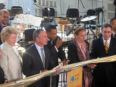 Lisa Schiff, Mayor Michael Bloomberg and Wynton Marsalis