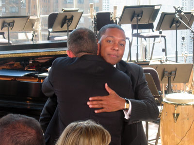 Wynton embraces Derek Gordon