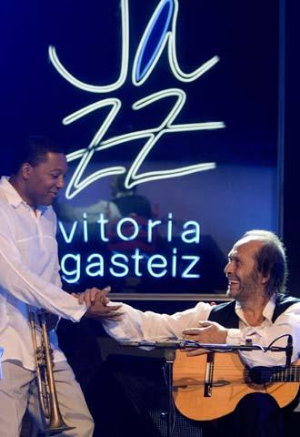 Wynton Marsalis and Paco de Lucia at Vitoria Jazz Festival 2006