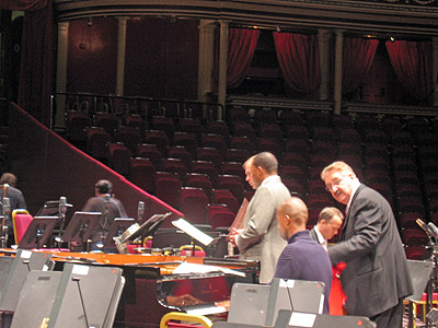 Wynton rehearsing at Royal Albert Hall