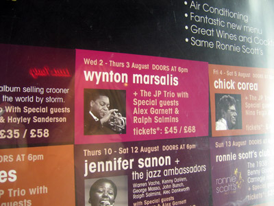 Wynton Marsalis on Ronnie Scott's