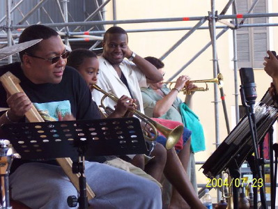 Wynton and Jasper Marsalis playing in Fano
