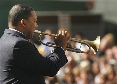 Wynton playing at 11 September 2006 Ceremony