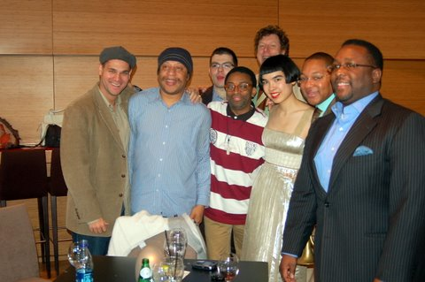 Roland Chassagne, Ricky Gordno, Dan Nimmer, Phil Schapp, Wendell Pierce, Spike Lee and Wynton Marsalis