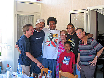 Luigi with Eric Lewis, Jasper Marsalis, Mrs. Antonietta, Wynton and Mr. Vittorio Beverelli