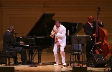 Wynton Marsalis performs during the all star tribute to Oscar Peterson