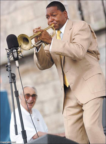 Wynton Marsalis playing with Dave Brubeck